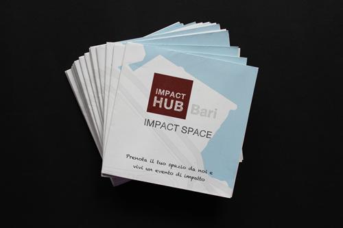 Progettazione grafica brochure Impact Hub Bari