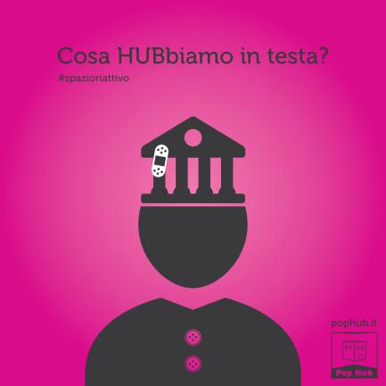 Campagna teasing per Pop Hub - Grafica e illustrazioni Spazio riattivo