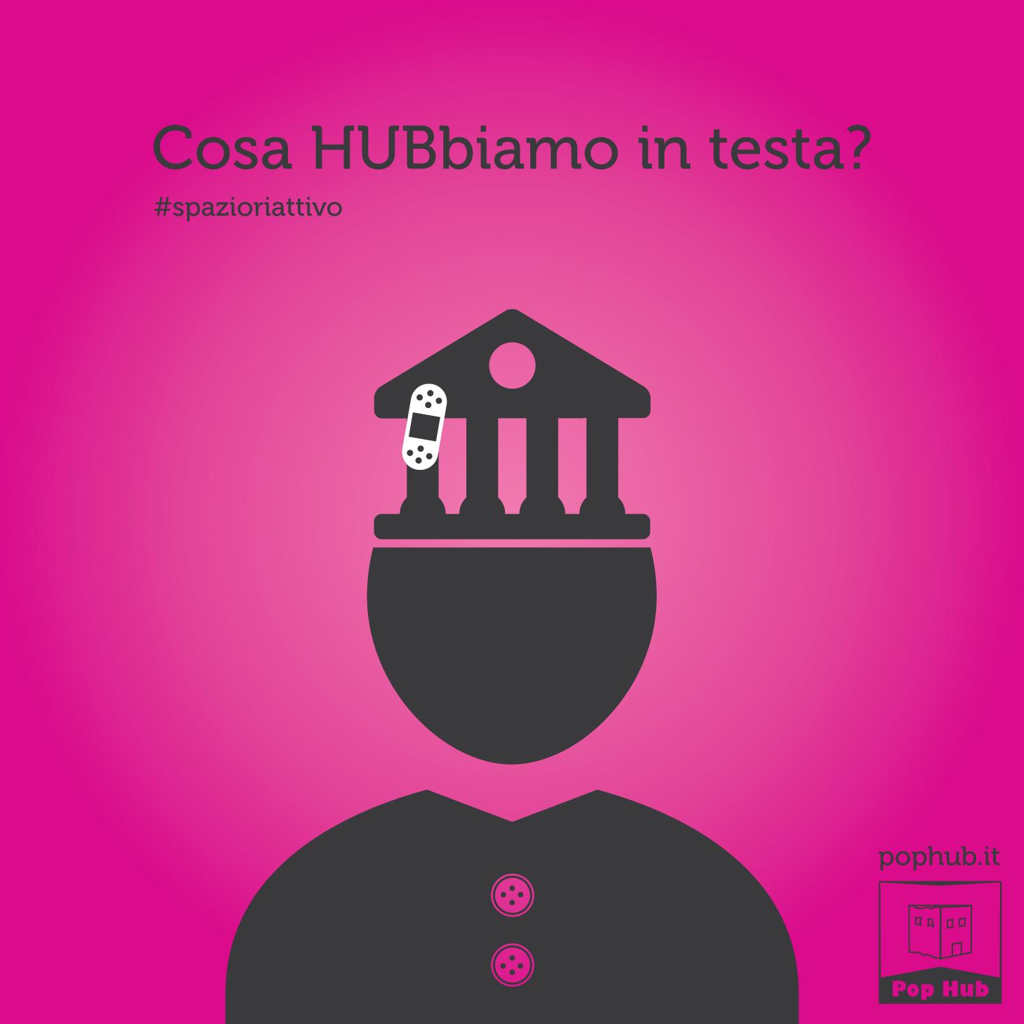 Campagna teasing per Pop Hub – Grafica e illustrazioni Spazio riattivo