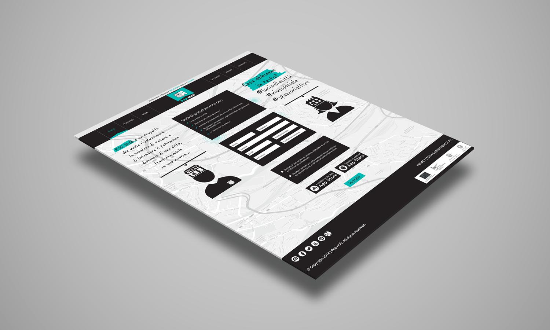 Web Design per sito web PopHub – pagina contatti