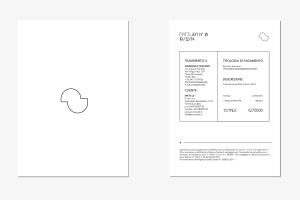 Carta intestata fattura e copertina Francesca Toscano Grafica e Web designer