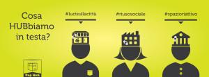 Campagna teasing copertina social gialla per Pop Hub - Grafica e illustrazioni