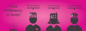 Campagna teasing copertina social fucsia per Pop Hub - Grafica e illustrazioni