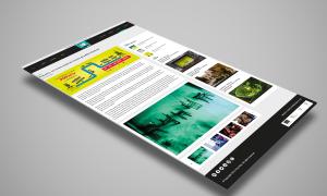 Web Design per sito web PopHub - pagina Eventi