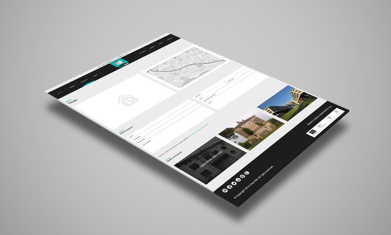 Web Design di landing page login per sito web PopHub