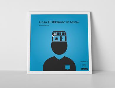 Campagna teasing per Pop Hub – Grafica e illustrazioni