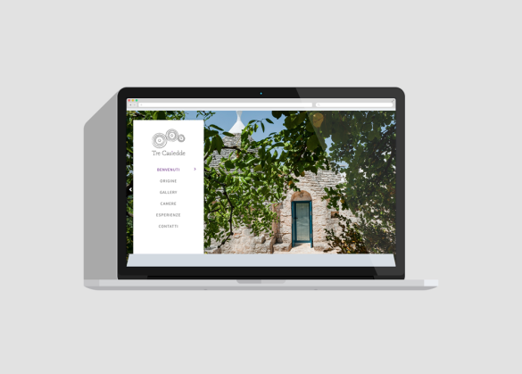 Web design, naming e Brand Identity per il sito Tre Casiedde - Menu da tablet