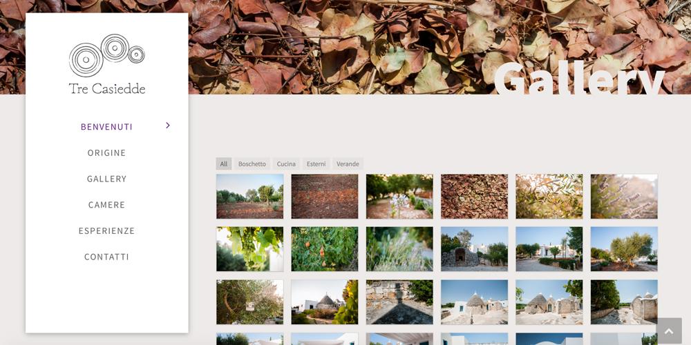 Web design, naming e brand Identity per il sito Tre Casiedde – Gallery