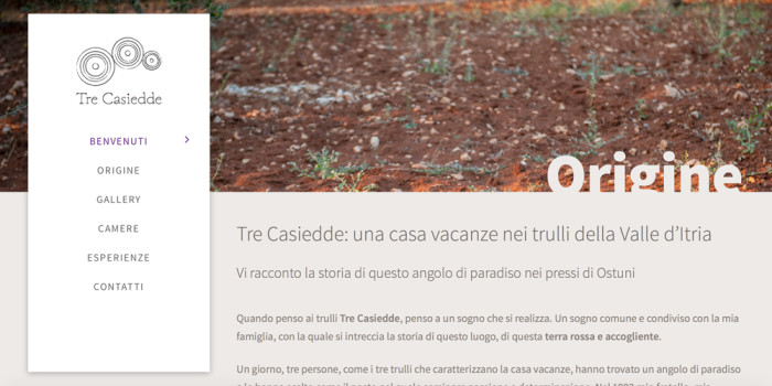 Web design, naming e Brand Identity per il sito Tre Casiedde