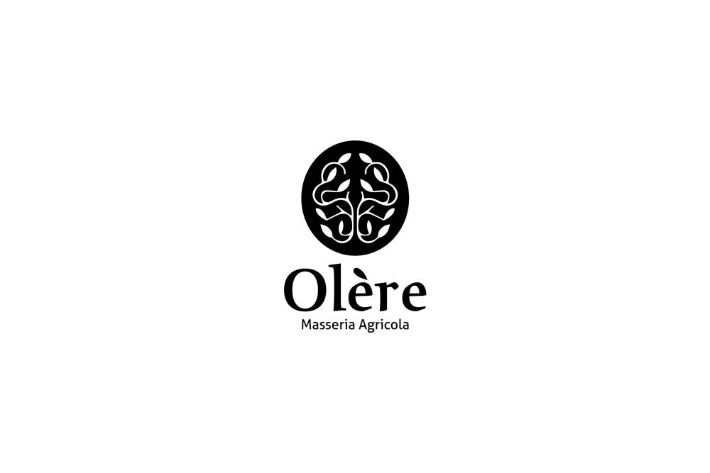 Comunicazione visiva: Branding e Stationary per Olère – Logo nero-bianco