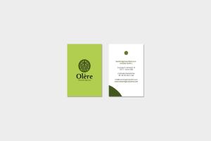 Comunicazione visiva: Branding e Stationary per Olère - Bigliettini da visita