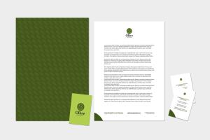 Comunicazione visiva: Branding e Stationary per Olère - Carta intestata e copertina